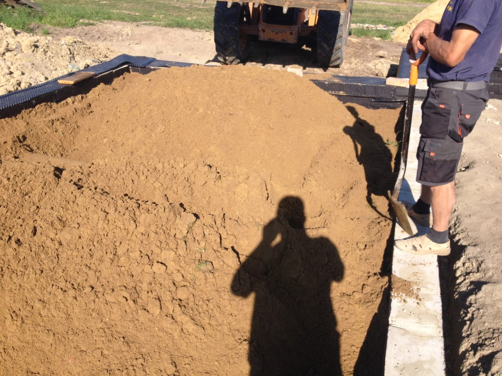 Posypka piaskowa i kanalizacja
