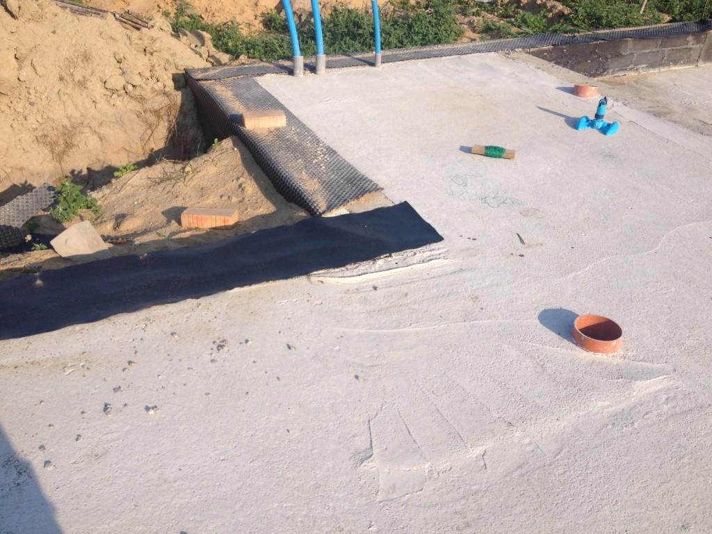 wykonanie tak zwanego chudego betonu (chudziaka)