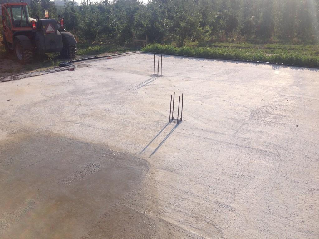 Wykonanie pierwszej warstwy betonu Chudziaka