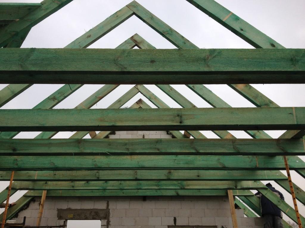 więźba dachowa - krokwy , jętki , murłata