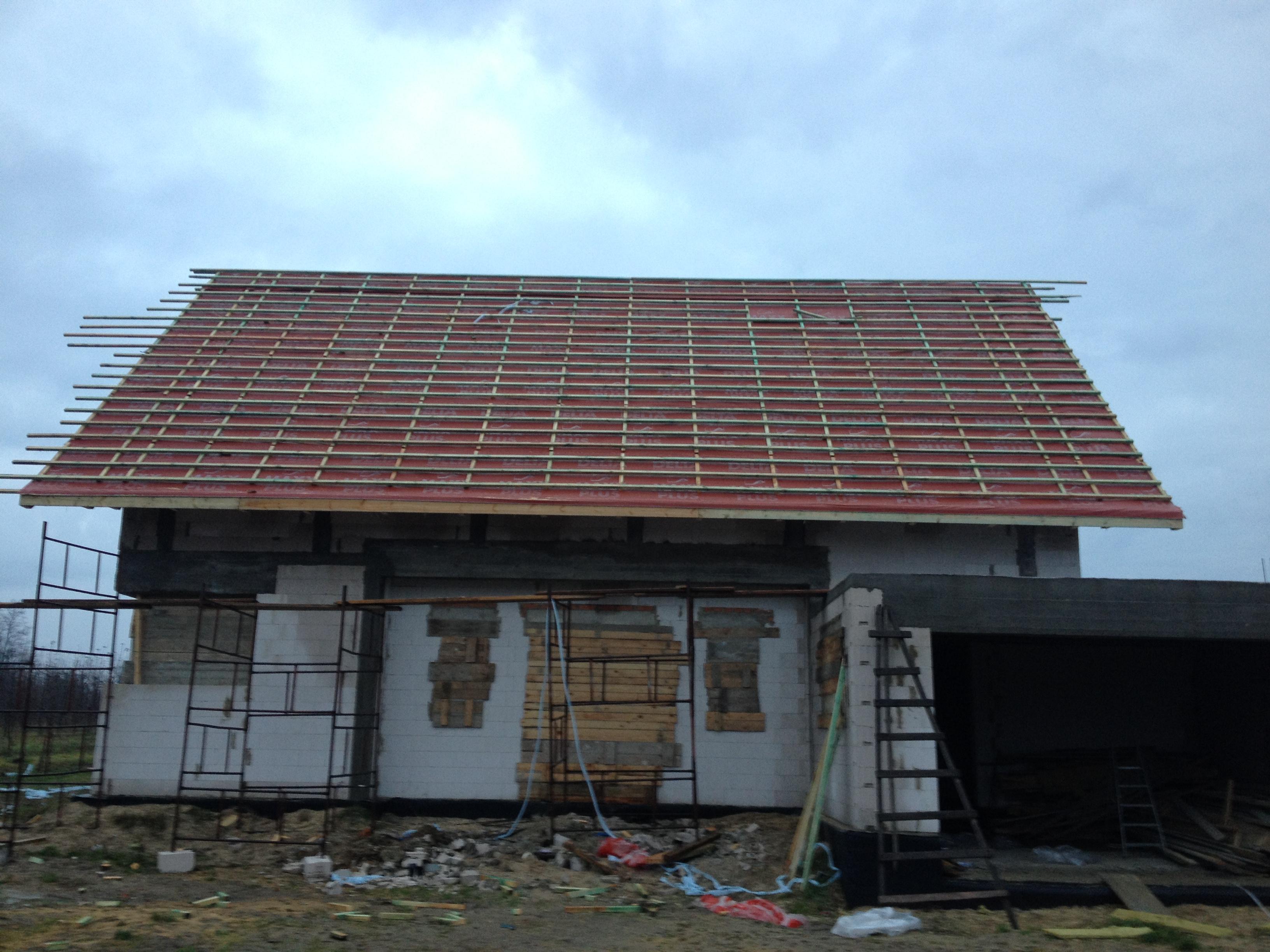 folia dachowa - budowa domu systemem gospodarczym