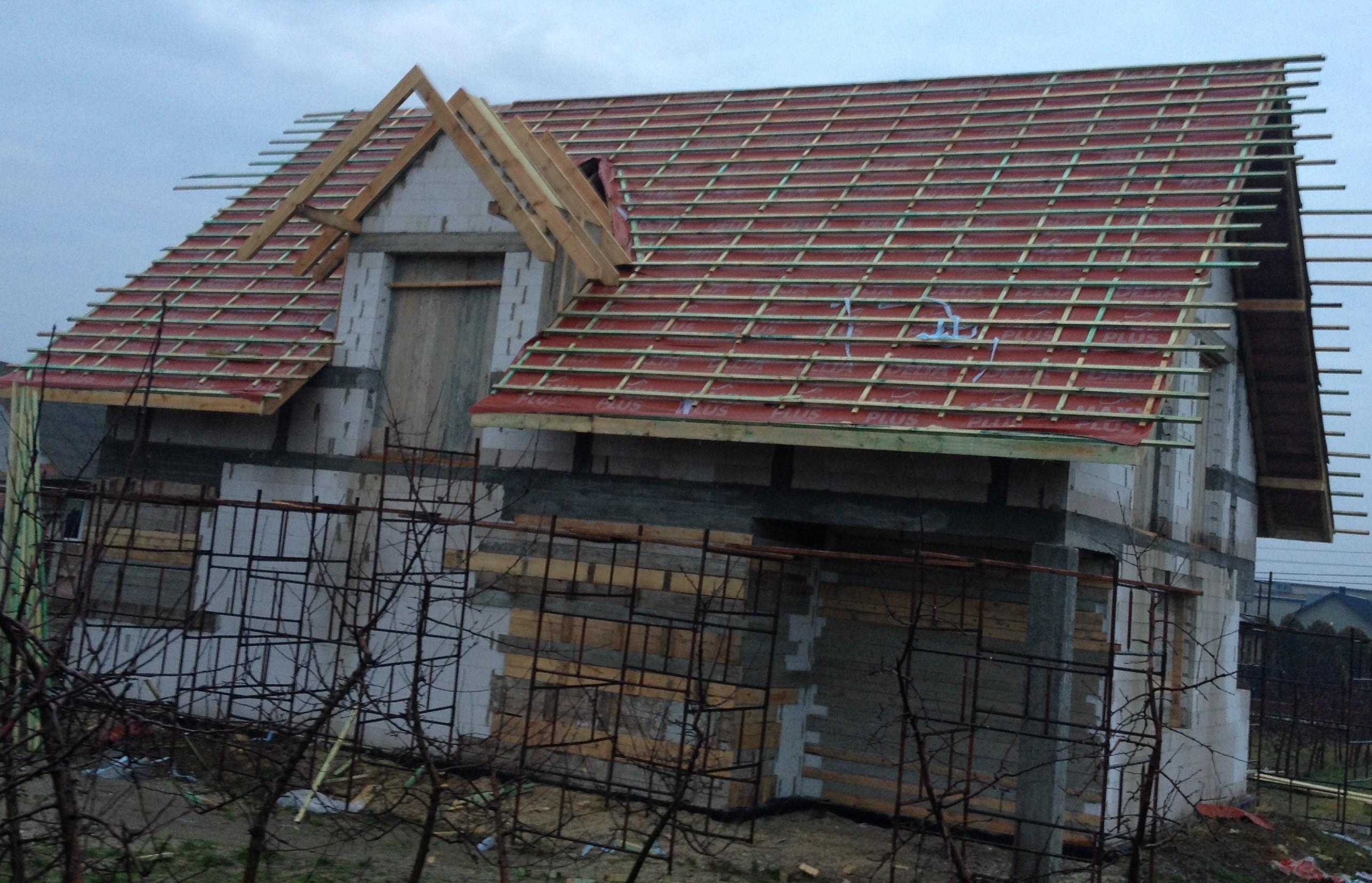Dach pokryty folią dachową